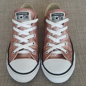 Converse Sparkly Pink Low Top Sneakers